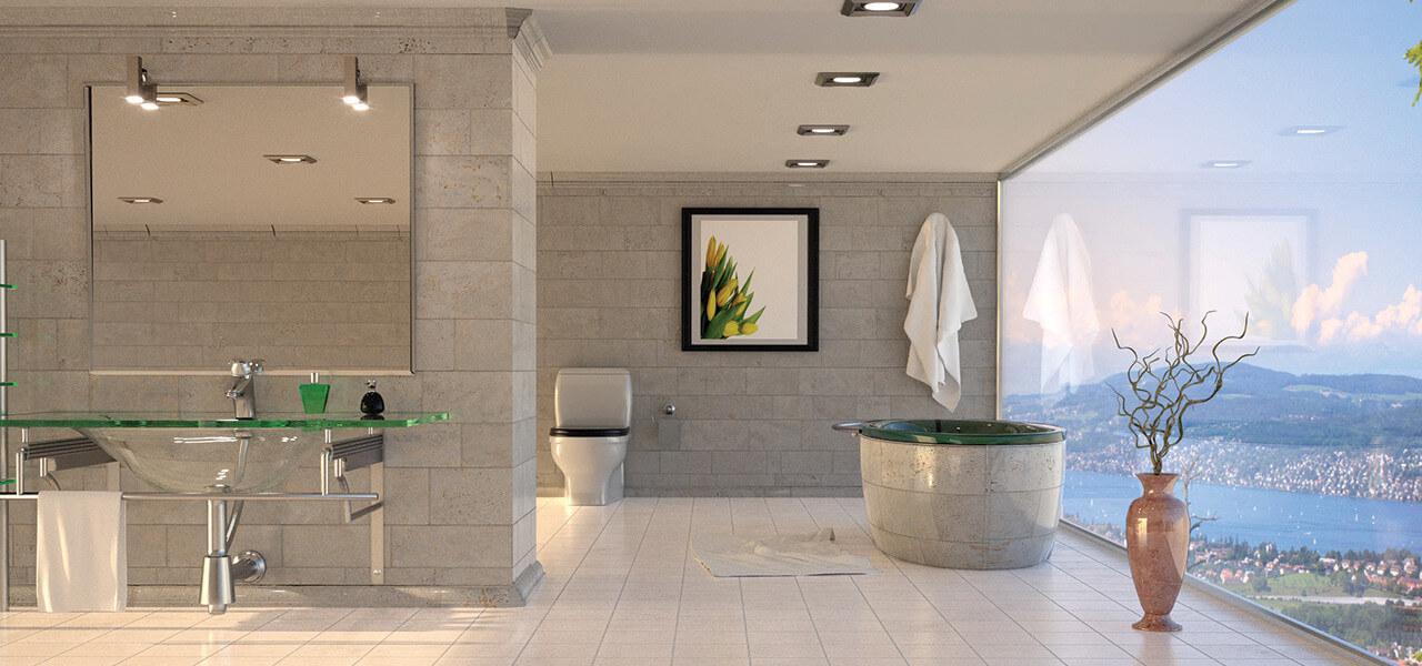 Fliesenverkauf und Fliesenverlegung - Badezimmer